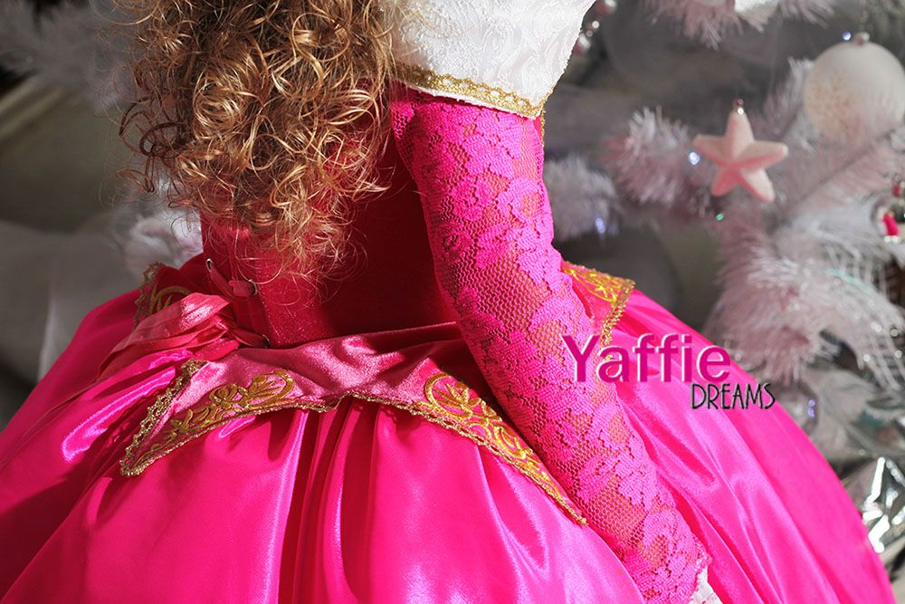 Pink Princess Aurora dress Disney Halloween costume flower girl gown - sweet 16 halloween party ideas