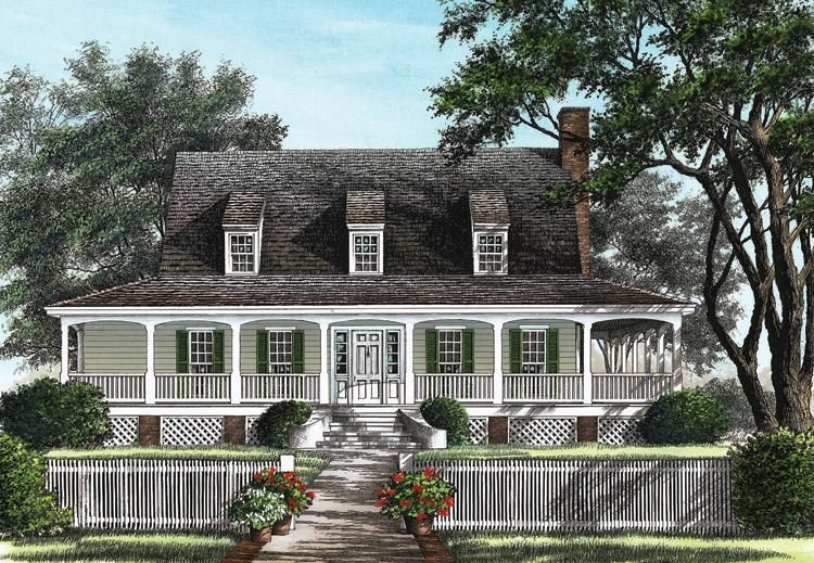 House Plan 7922 00058 Traditional Plan 1 909 Square Feet 3 Bedrooms 2 5 Bathrooms Lowcountry House Plans Cottage House Plans Cottage Homes