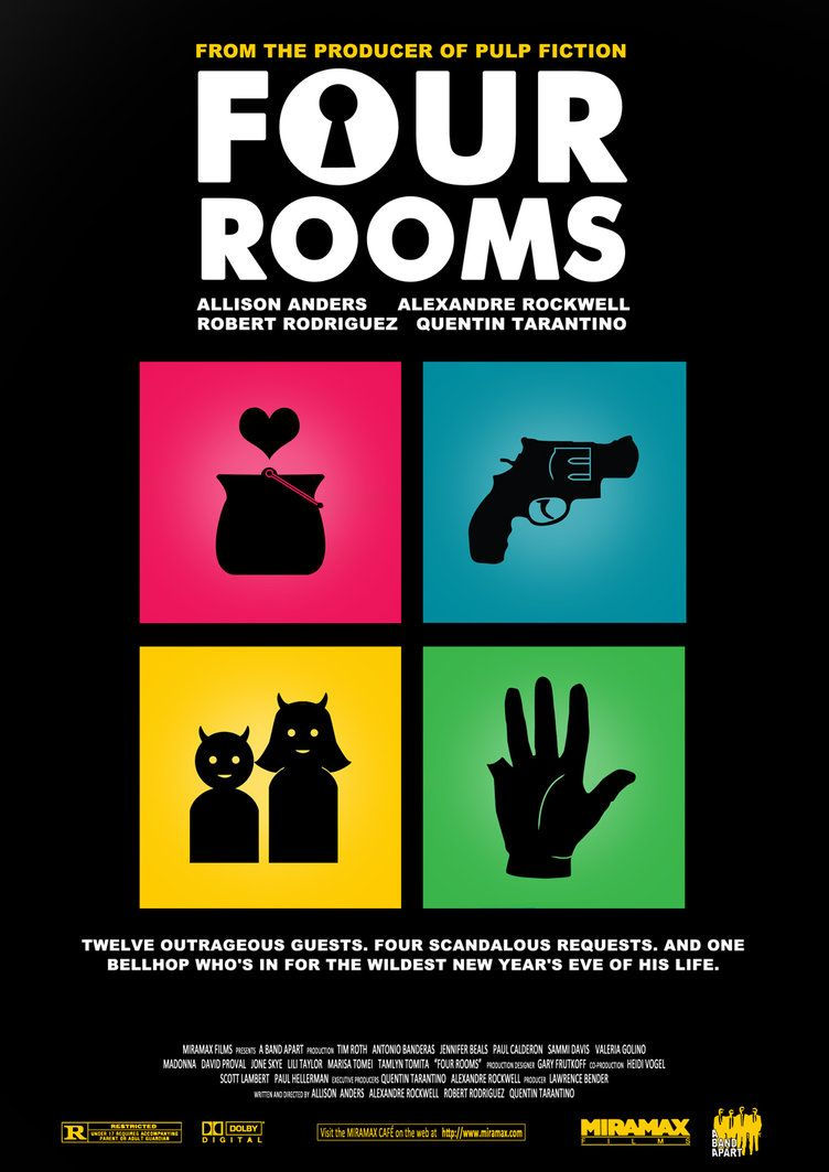 Four Rooms Movie Poster By Ikozmon On Deviantart Movie Posters Four Rooms Quentin Tarantino