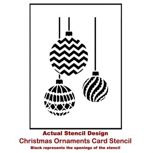 Christmas Ornaments Card Stencil Template. Buy it here for only $5.99  http:// - Christmas Ornaments Card Stencil Template Holidays, Party