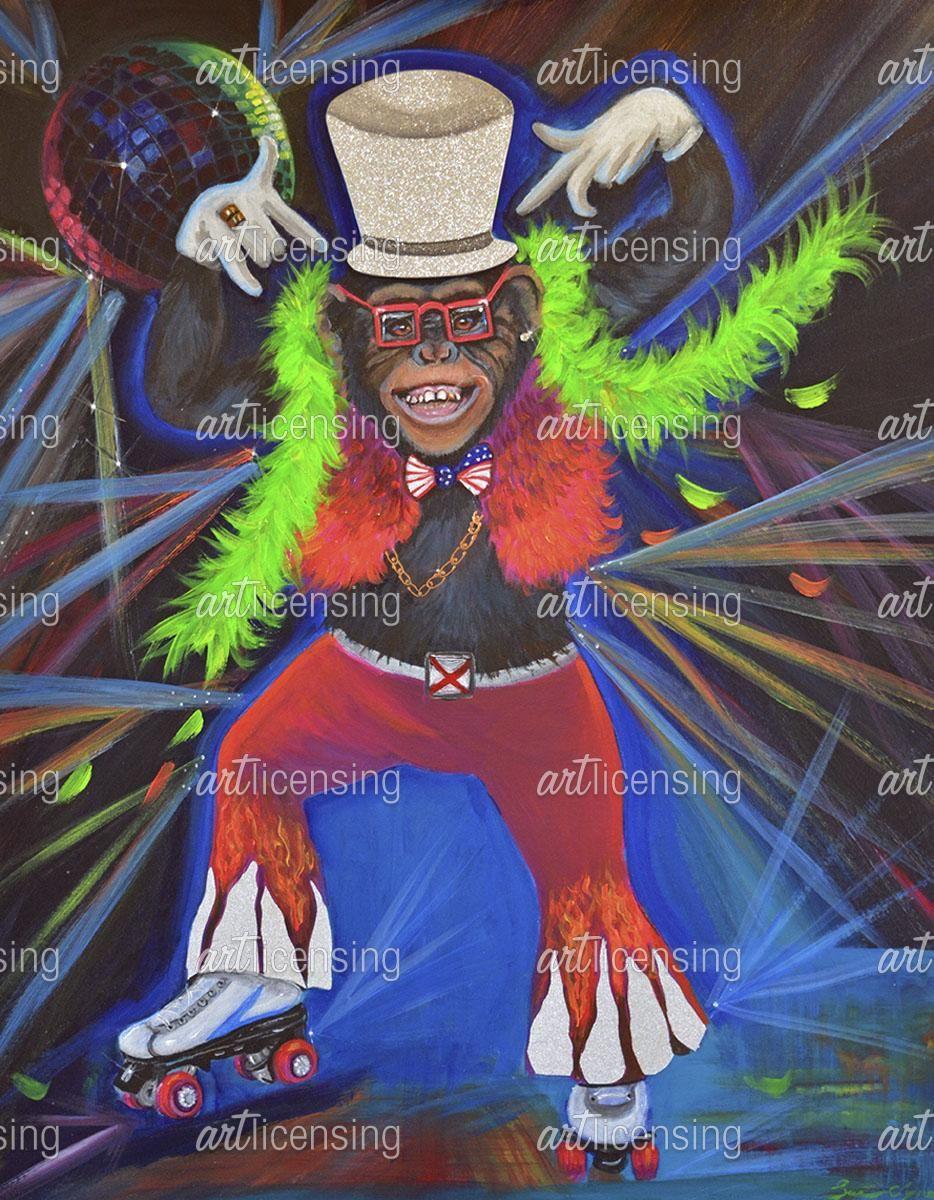 Funky Pinky Monkey | Art Licensing