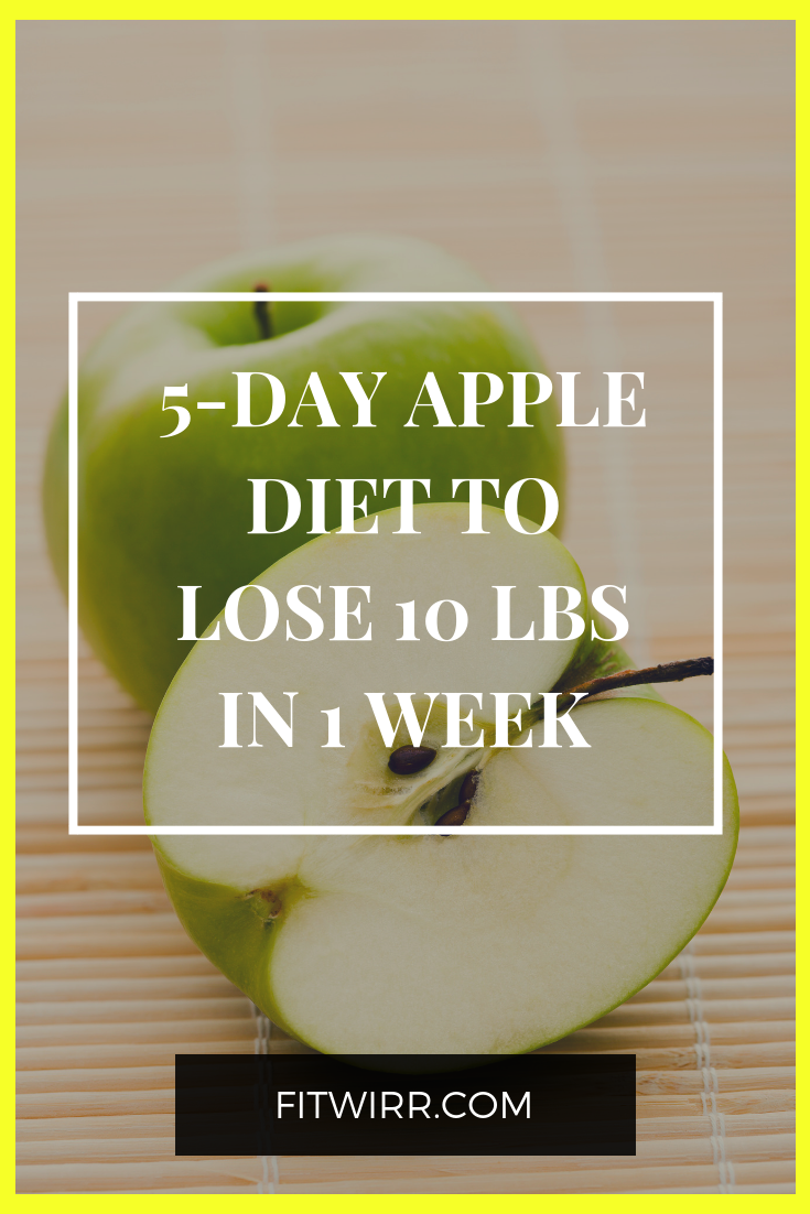 5-day apple diet to lose 1lbs in 1 week. #loseweight #applediet