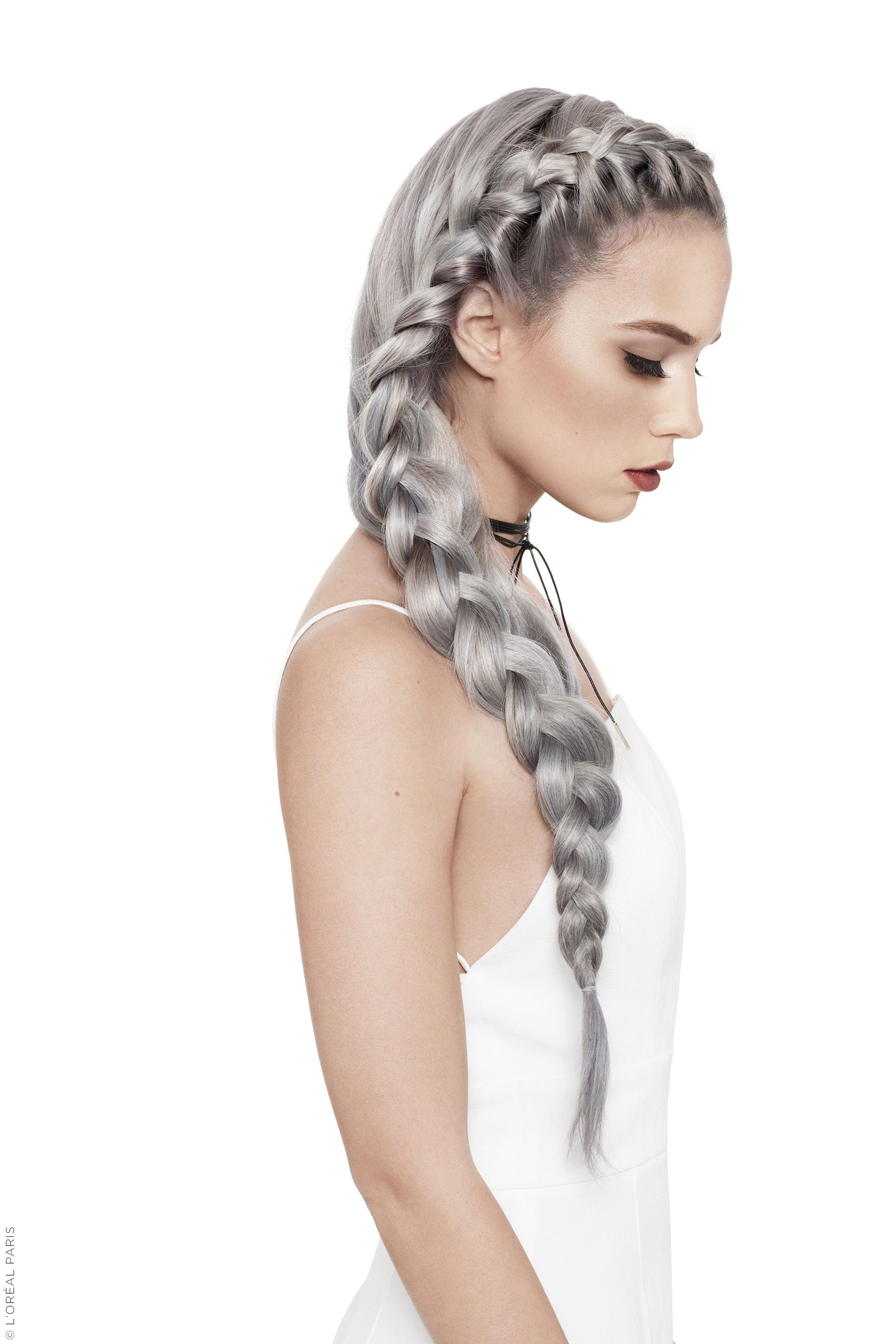 This gorgeous grey braid I want granny mermaid hair