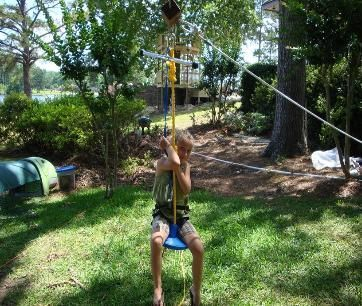 I think the boys would LOVE a zipline in the back yard ...