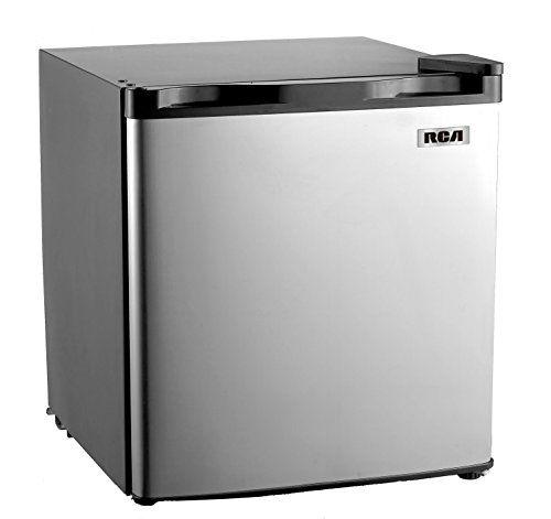 Robot Check Stainless Steel Fridge Mini Fridge Compact Refrigerator