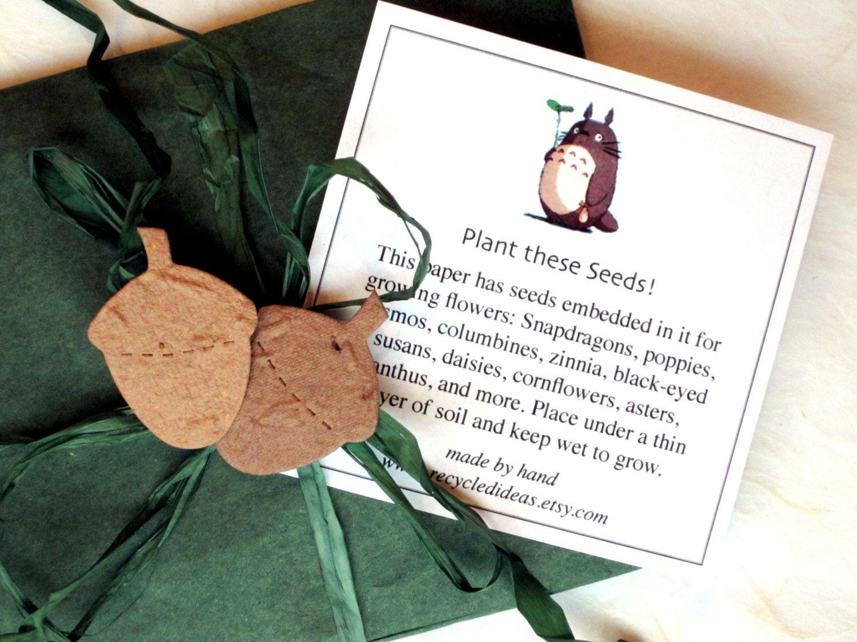 100 Seed Paper Acorn Fall Wedding Favors - Plantable Paper Acorns ...