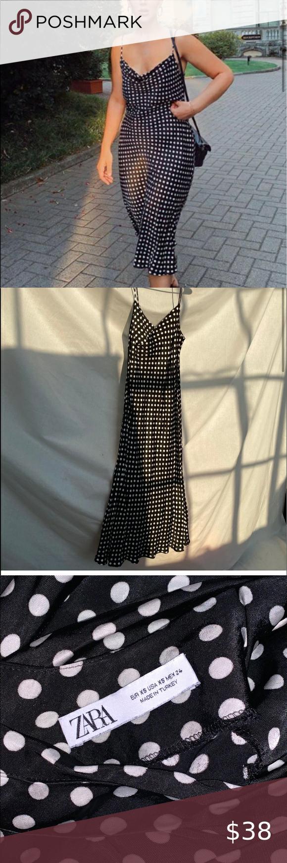 34+ Black and white dot dress zara trends