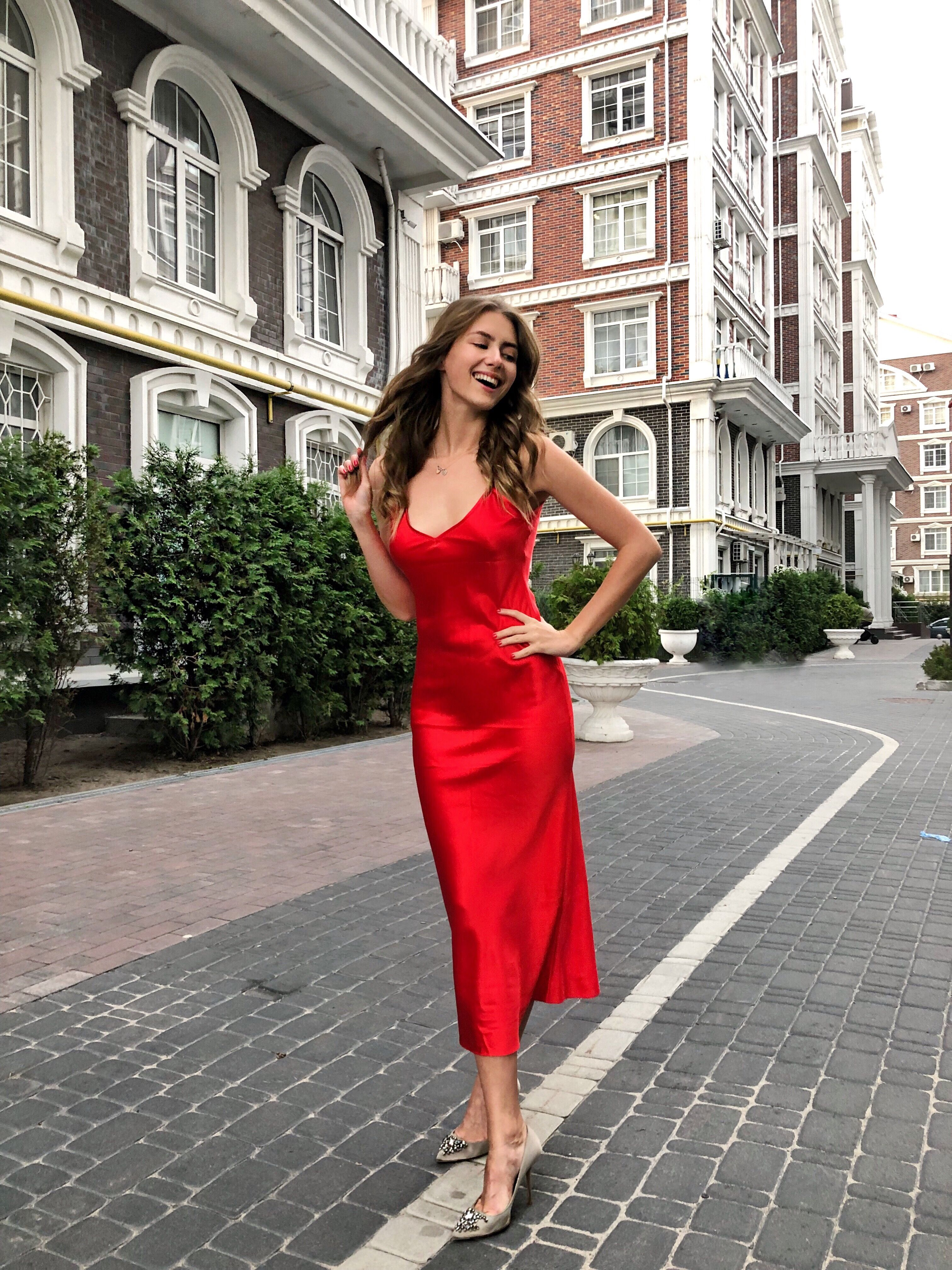 8db3e6cf49a Red silk slip dress. Sheryl Red slip dress from Serenity. Available online.  Pure silk. Thin straps. High quality.