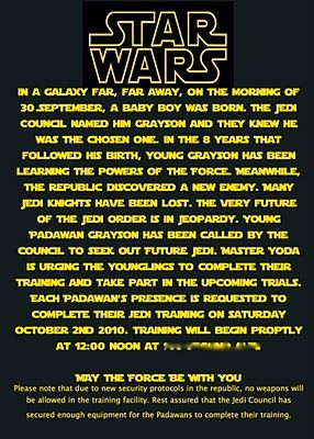 Star Wars Invite Use Photoshop To Make Text Look Like It Is