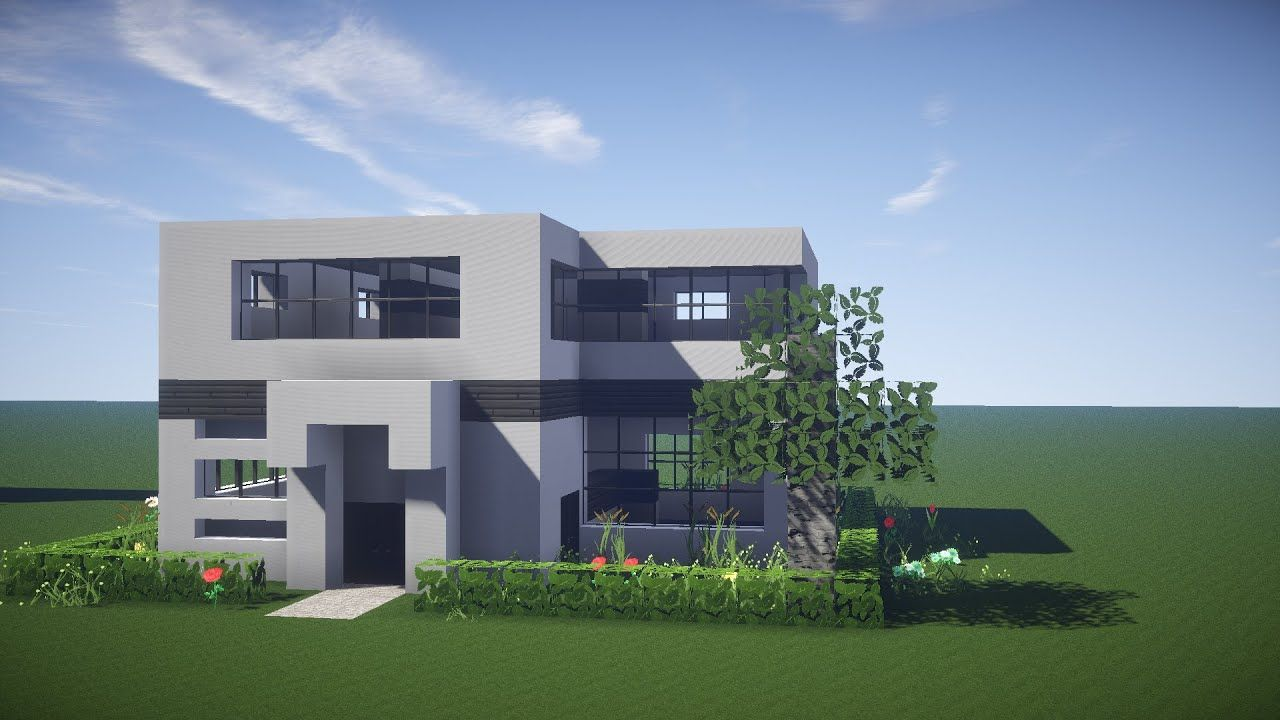 How To Build A Modern House In Minecraft By Keralis  Minecraft
