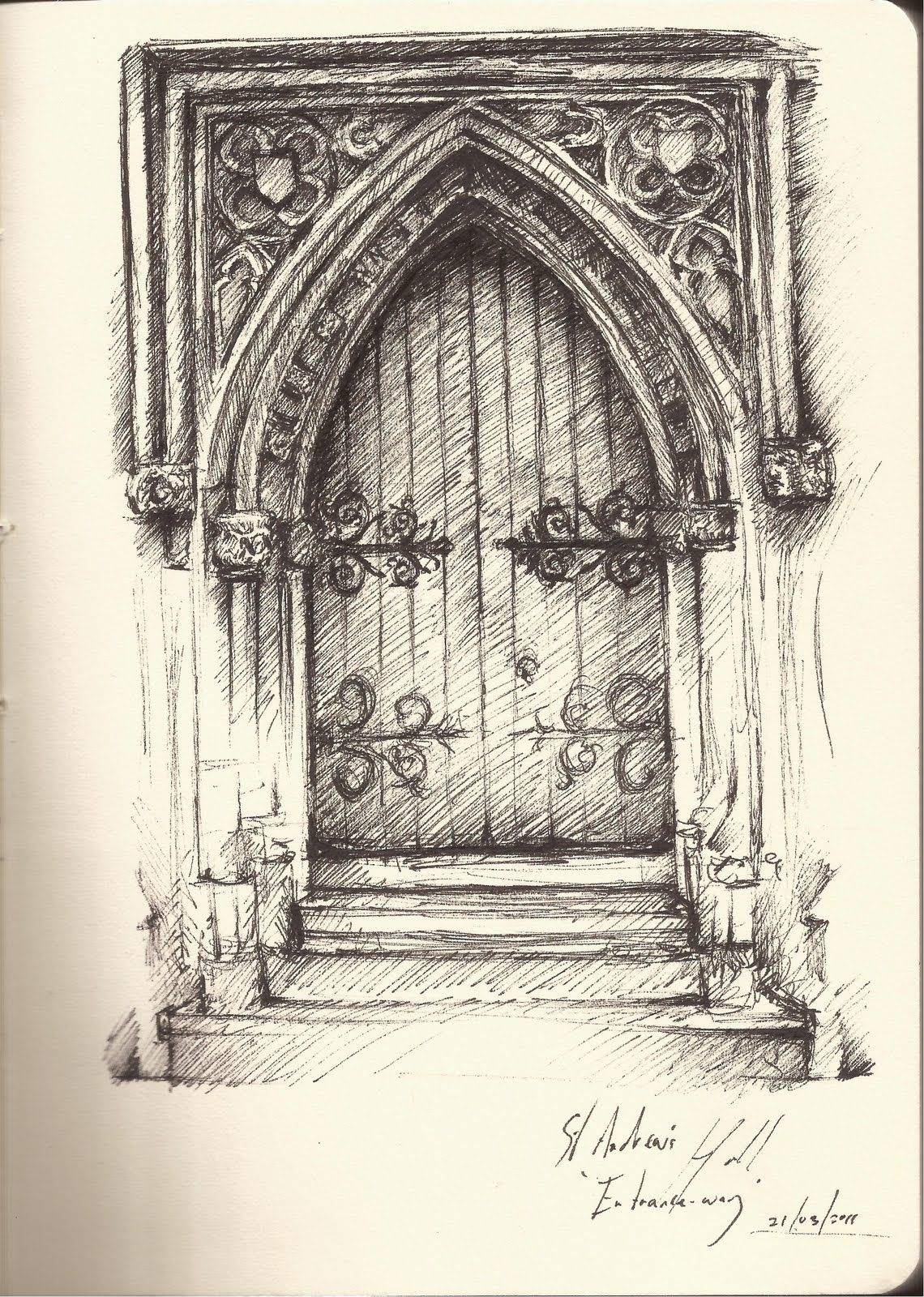 Gothic Architecture Drawing