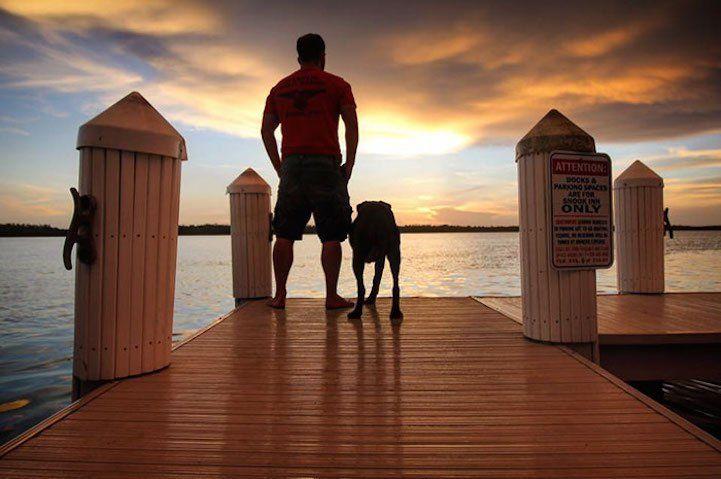 Ele levou sua cachorra para a viagem de sua vida