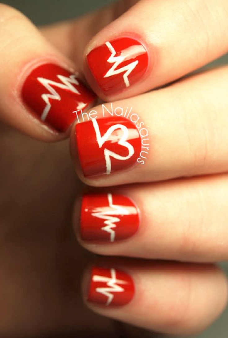 21 Heart Nail Designs For Valentine's Day - 21 Heart Nail Designs For Valentine's Day Nail Art For