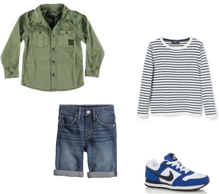 Boys outfit: Vingino, Mango, H&M, Nike