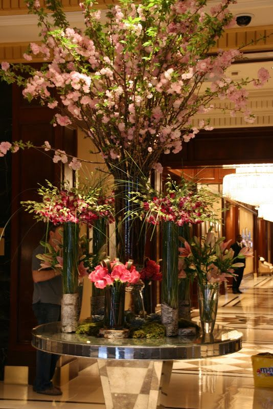 Vignette Design Tuesday Inspiration Cylinder Vase Arrangements Hotel Flowers Large Flower Vases Hotel Flower Arrangements
