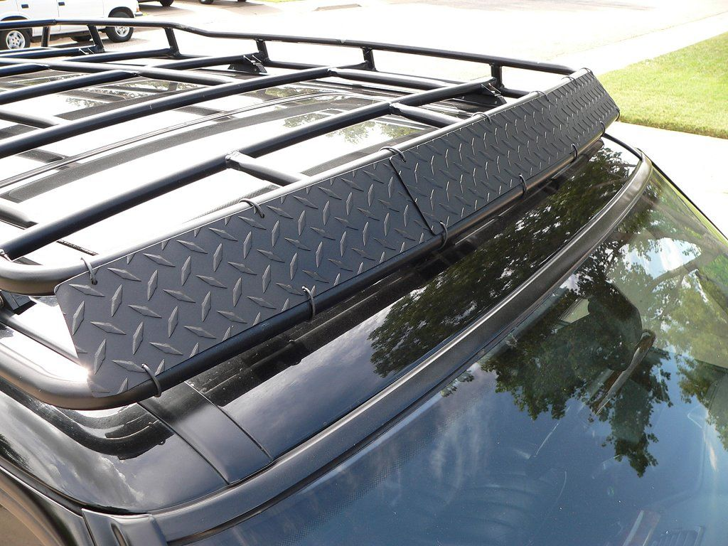 Diy Roof Rack Wind Deflector Can Buy The Plates At Home Depot Van