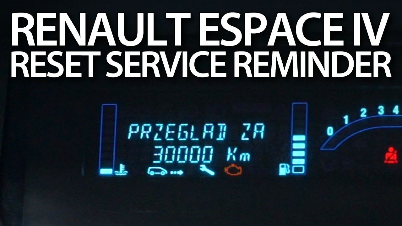 How to #reset #service reminder in #Renault #Espace IV