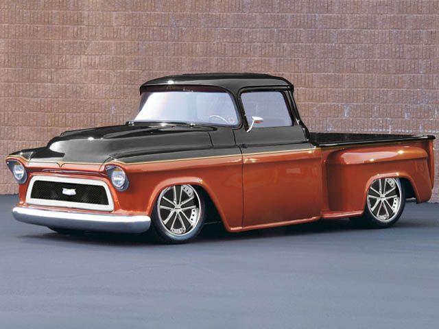 57 Chevy Truck Custom Front By Michael Warren Beautiful Truck Orange