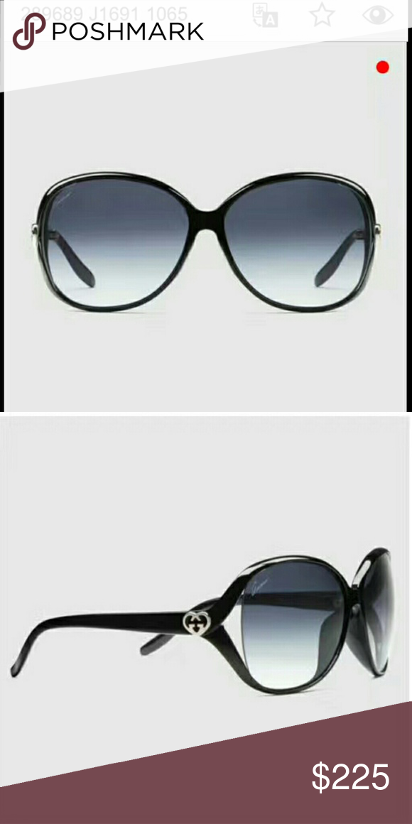65630cf2096 Gucci Sunglasses for Women Medium frame sunglasses with heart shape  inter-locking G logo. NWOT comes with the Gucci Sunglass Case.