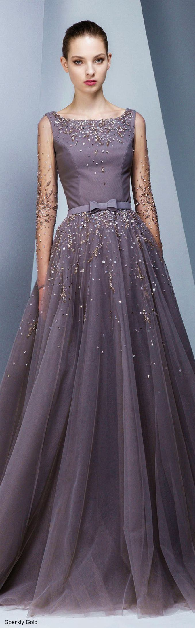 Purple wedding ideas with pretty details long sleeve evening