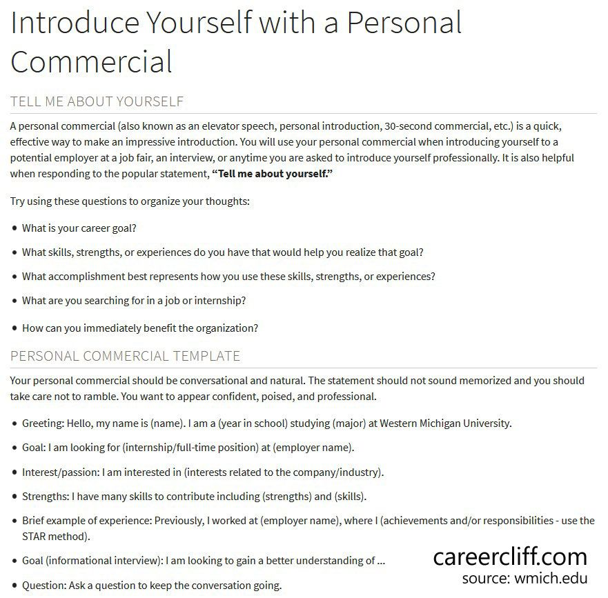 Creative Self Introduction Example For Students In English Career Cliff