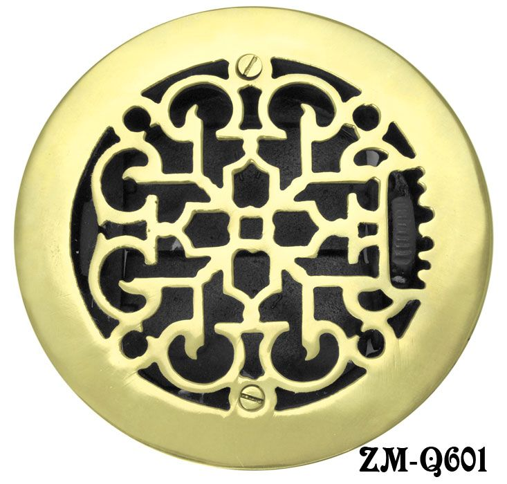 Brass-Round-Floor-Ceiling-or-Wall-Grates-for-Air-or-Heat-Vent ...