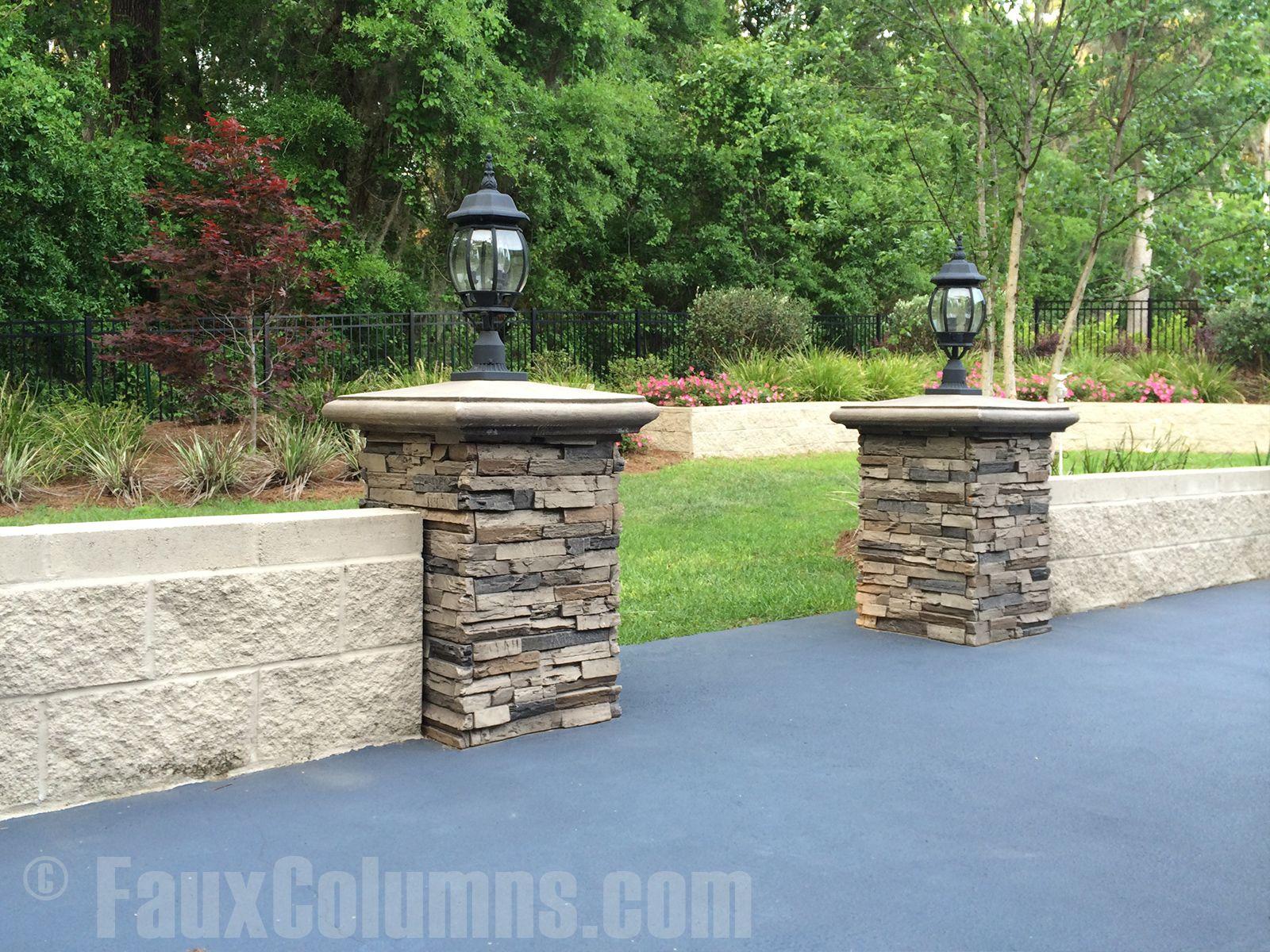 Decorative Column Ideas | Imitation Stone Photo Gallery ... on Fancy Outdoor Living id=27174
