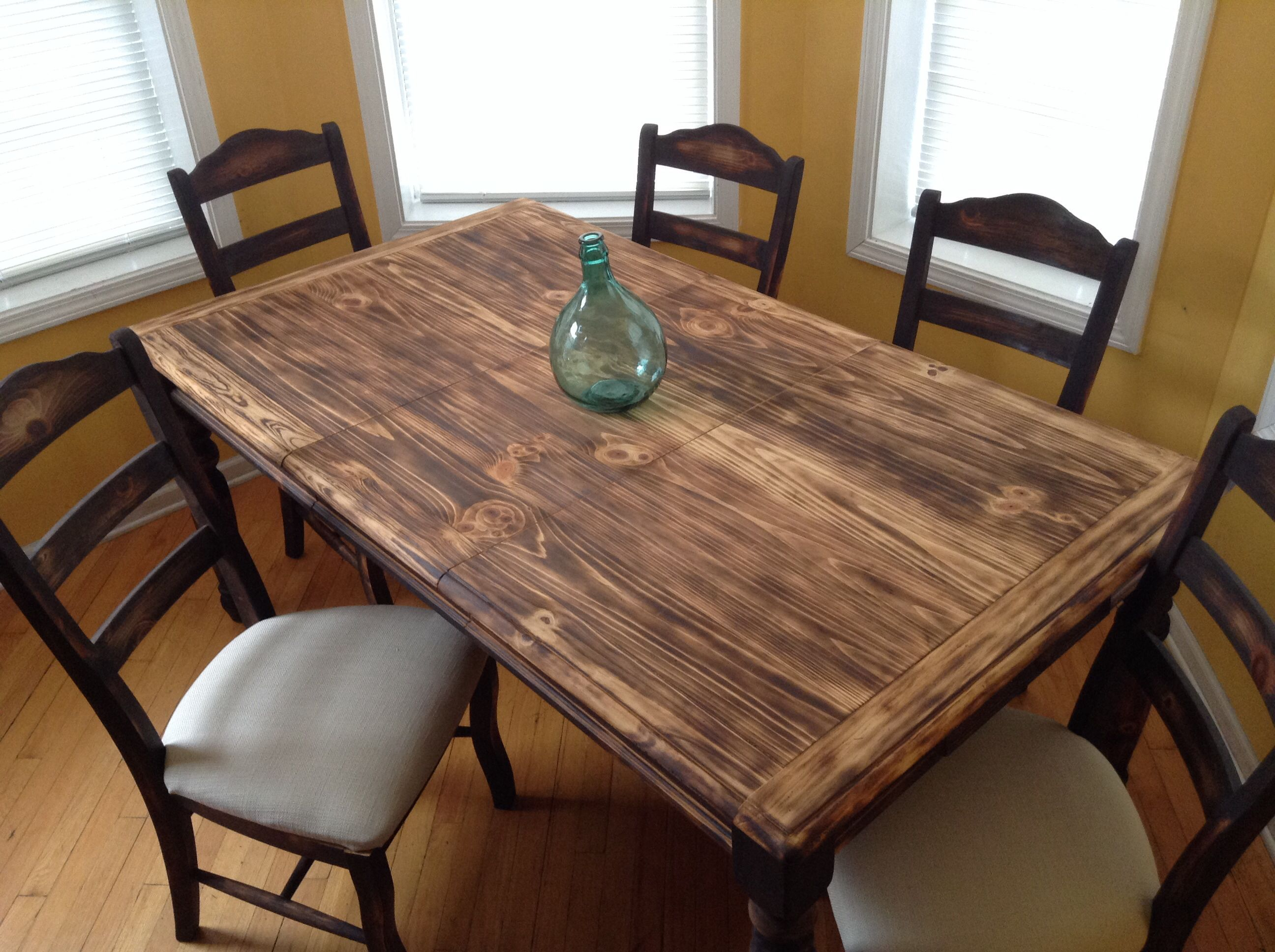Torched Pine Dining Table by Chicago Fire