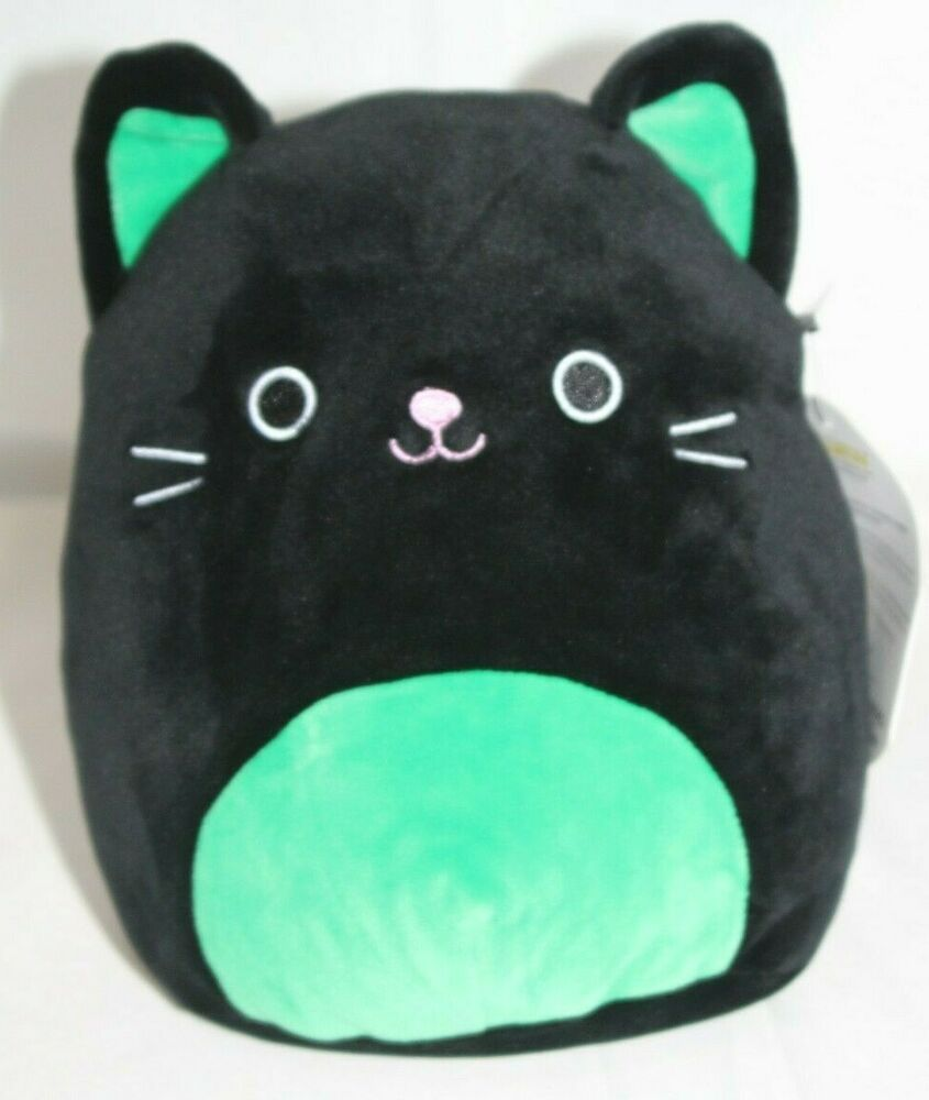 Squishmallow Cleo The Cat Plush Stuffed Animal Black Green Kellytoy 12 New Kellytoy