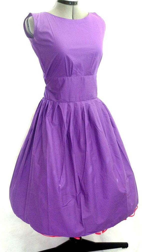 Vintage style purple rockabilly 50\'s mad men floral by piyuspret ...
