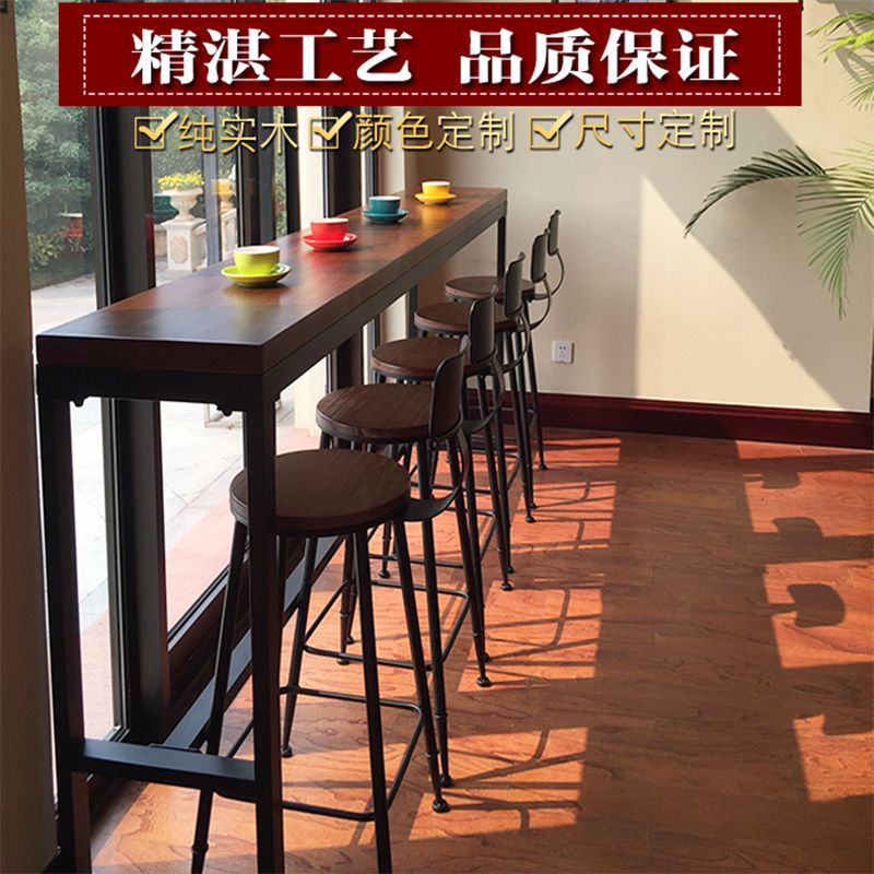 Casual Home Living Room Against The Wall Cafe Solid Wood Bar Table Small Length Bar Length Bar