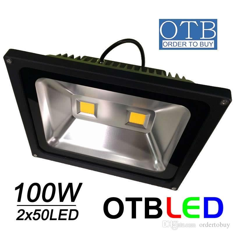 100w Led Flood Light 2x50w Ac85 265v 110v Ip65 Waterproof Floodlights Bright Outdoor Lighting Dhl Shipping Free Battery Flood Lights Led Flood Led Flood Lights