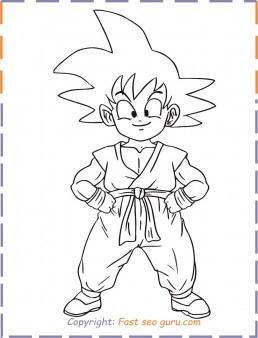 Goku Drawing Easy Full Body : drawing, Coloring, Pages, Printable, Kids., Superhero, Pages,, Coloring,