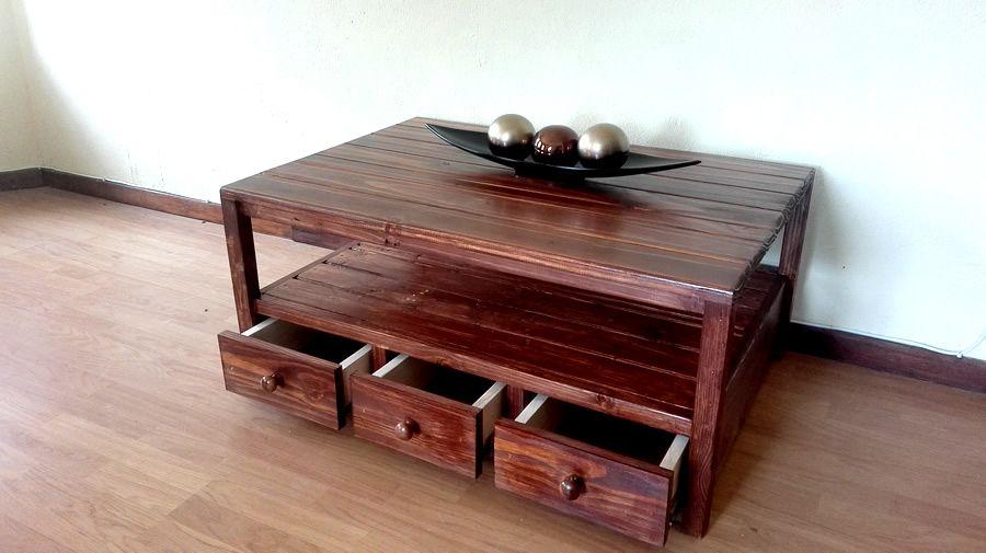 Storage Based Coffee Table Dark Oak Custom Made Base 3