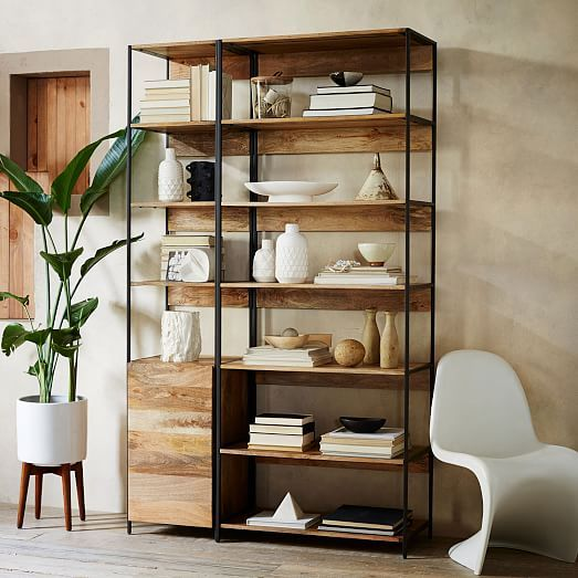 Industrial modular 17 bookshelf for West elm long island