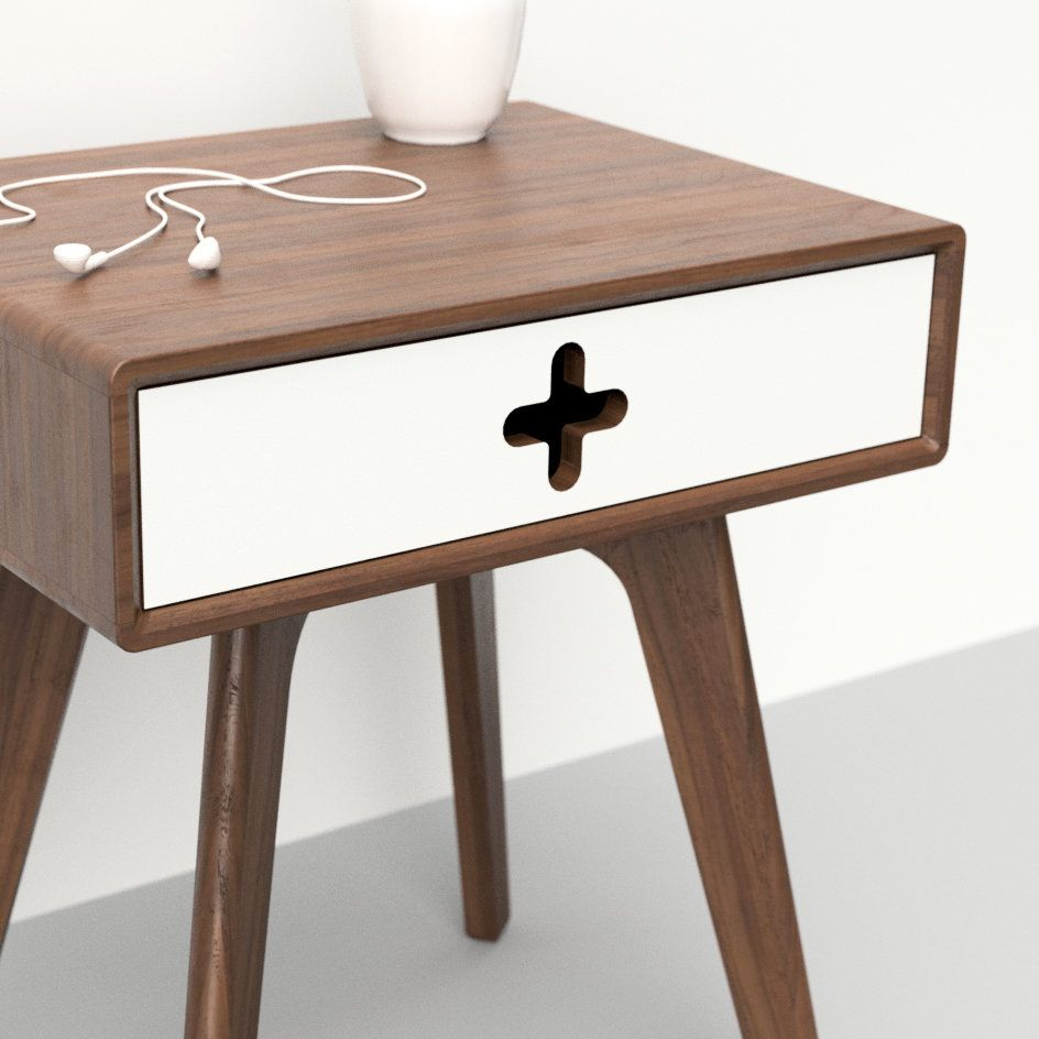 Best Mid Century Nightstand End Table Bed Side Table Plus 400 x 300