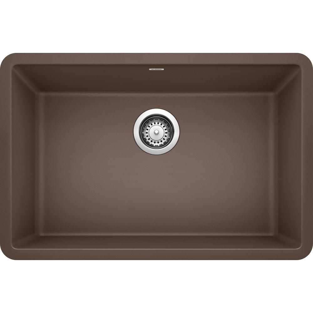Blanco Precis Undermount Granite Composite 27 In Single Bowl Kitchen Sink In Cafe Brown 522433 The Home Depot In 2021 Undermount Kitchen Sinks Single Bowl Kitchen Sink Undermount Kitchen Sinks Granite