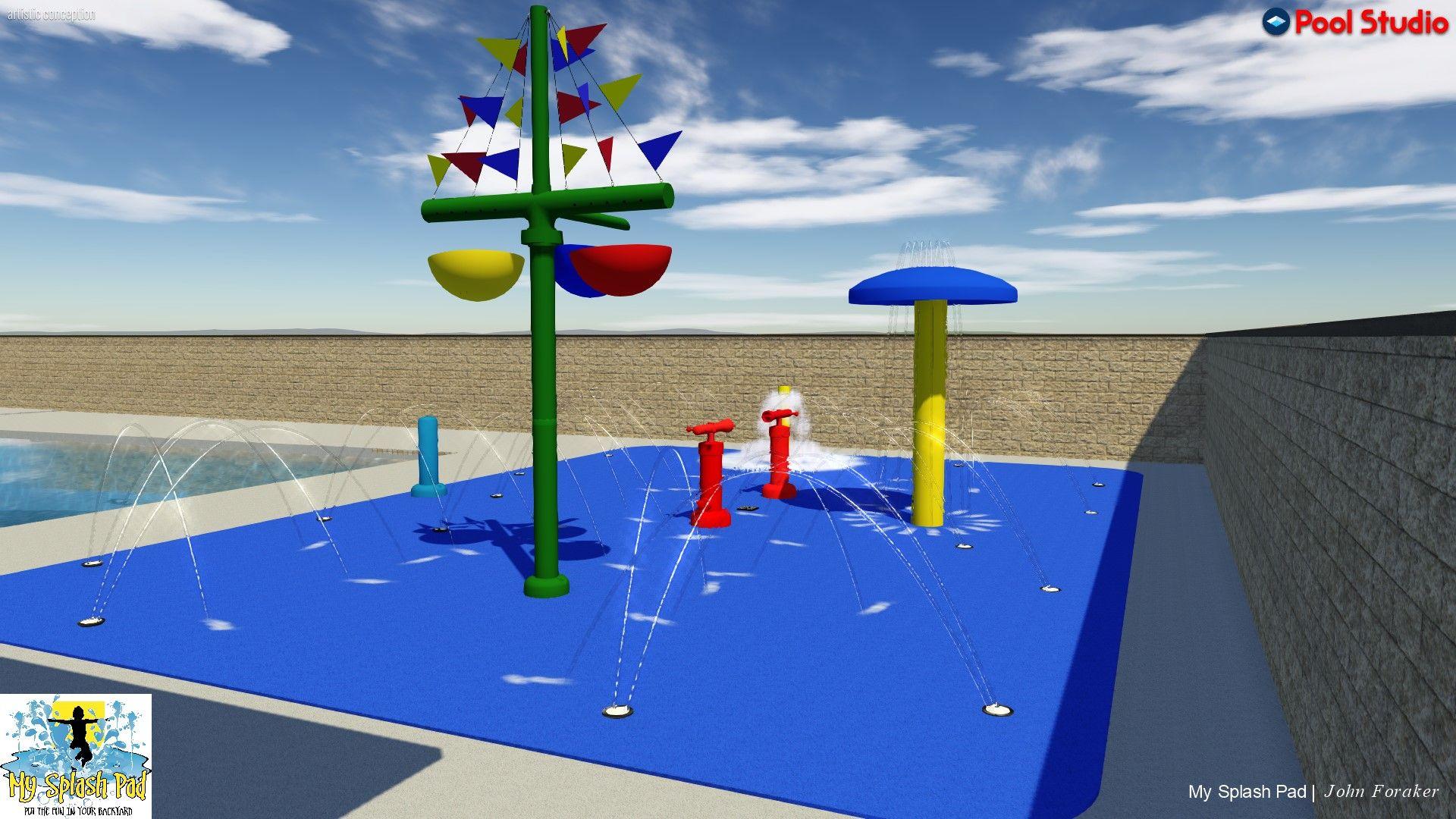 Splash Pad Installation, Kits & Water Playground Equipment #largeumbrella