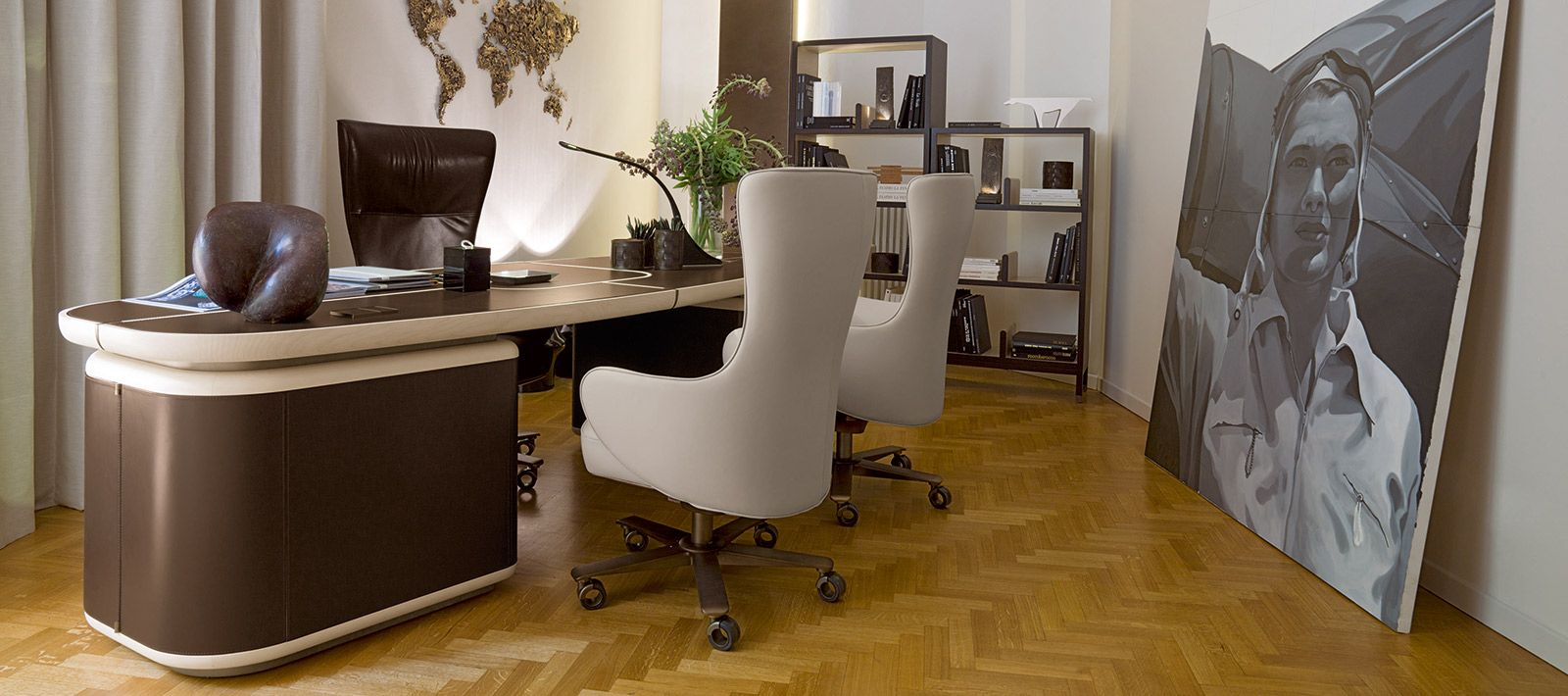 Office Pinterest Plywood, Armchairs and Desks