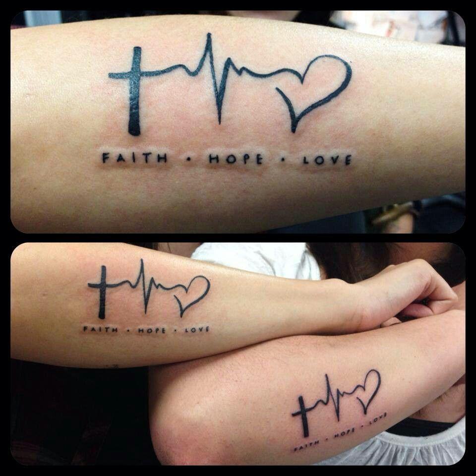 Faith hope love Faith hope love tattoo, Inspirational