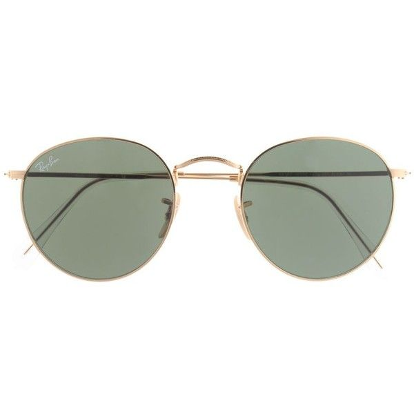 J.Crew Ray Ban Retro Round Sunglasses (8,320 PHP) ❤ liked