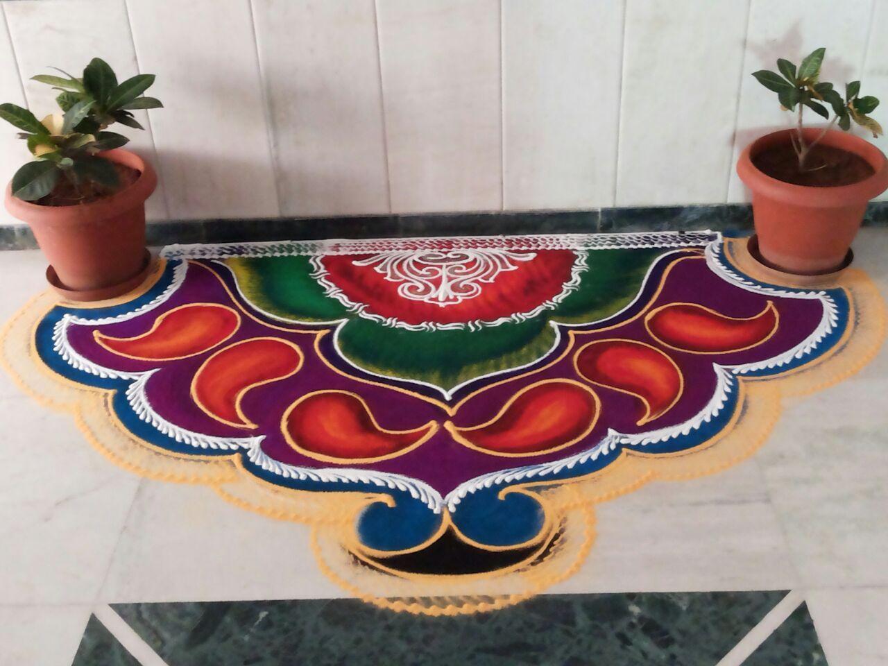 Poster design rangoli -  Rangoli Art In Pune Rangoliart Rashtrikalaakadami Rangolipune Traditionalrangoli