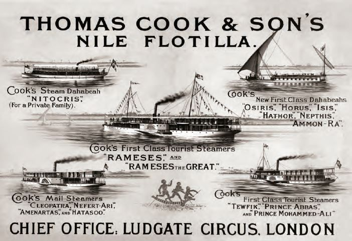 Thomas cook son 39 s nile flotilla egyptomania pinterest for Cuisinier bateau