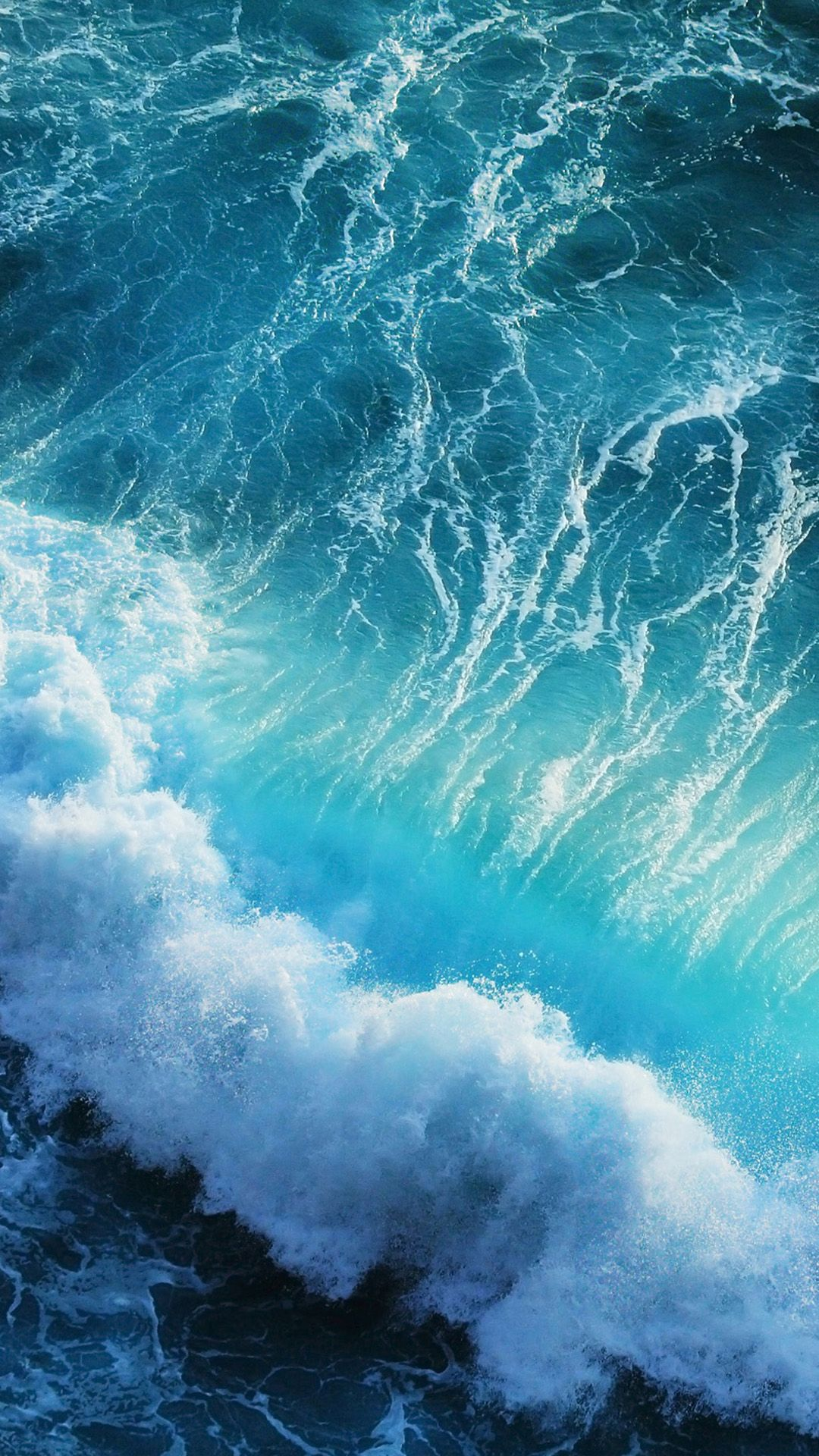 Blue sea water wallpapers for iphone 6 plus Watery