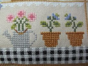 Flower Shop Pillow Florist Cross Stitch Decorative Pillow