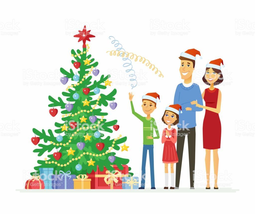 Resultado De Imagen Para Dibujos De Navidad En Familia A Color Christmas Drawing Christmas Vectors Tree Drawing