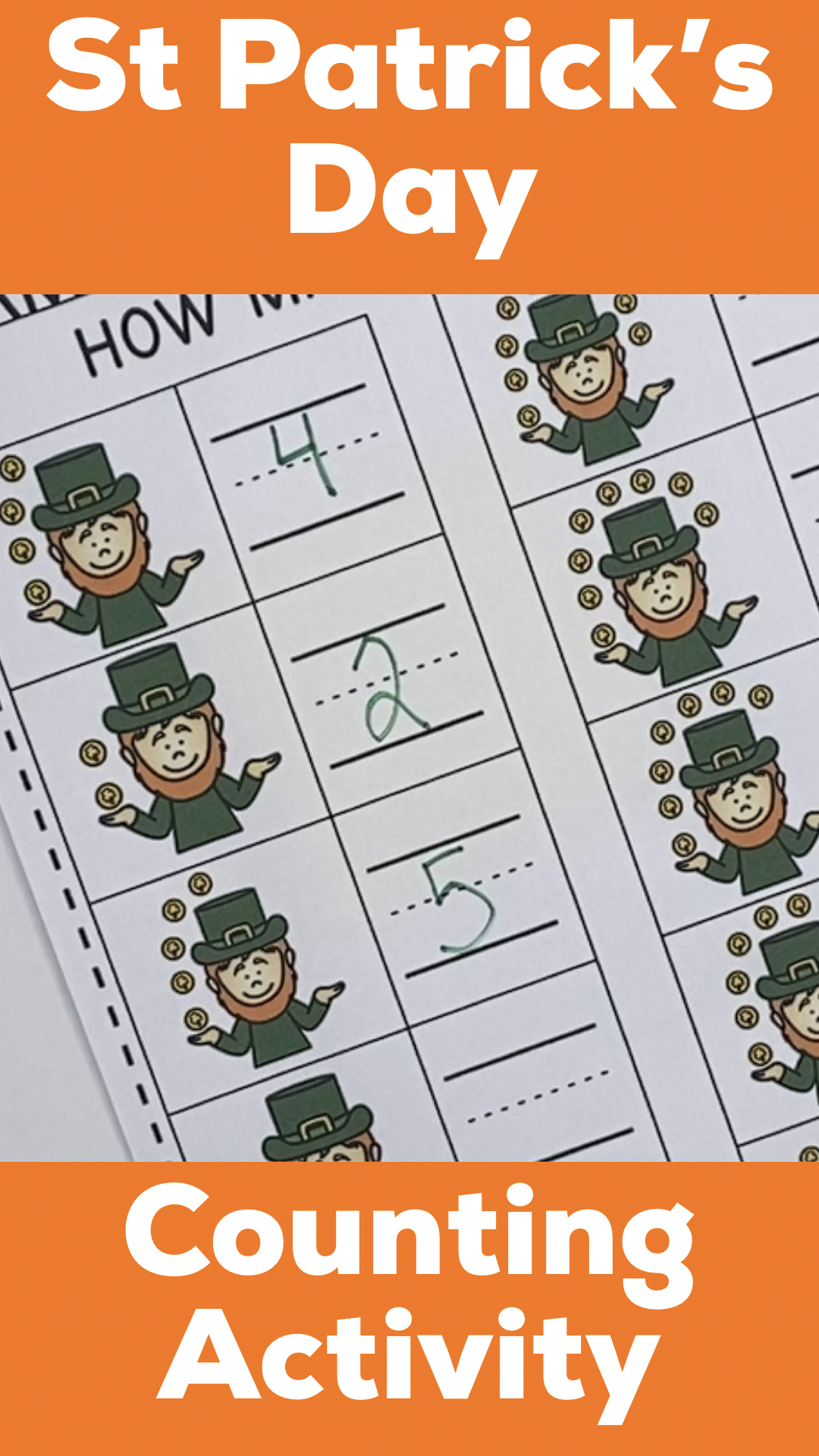 St Patrick S Day Counting Activity How Many Coins
