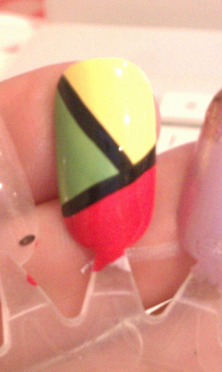 Stephyzarc original rasta color nail design   Nailed it!   Pinterest ...