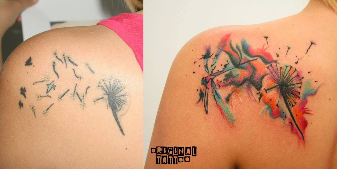Small Cover Up. Abstract Tattoo