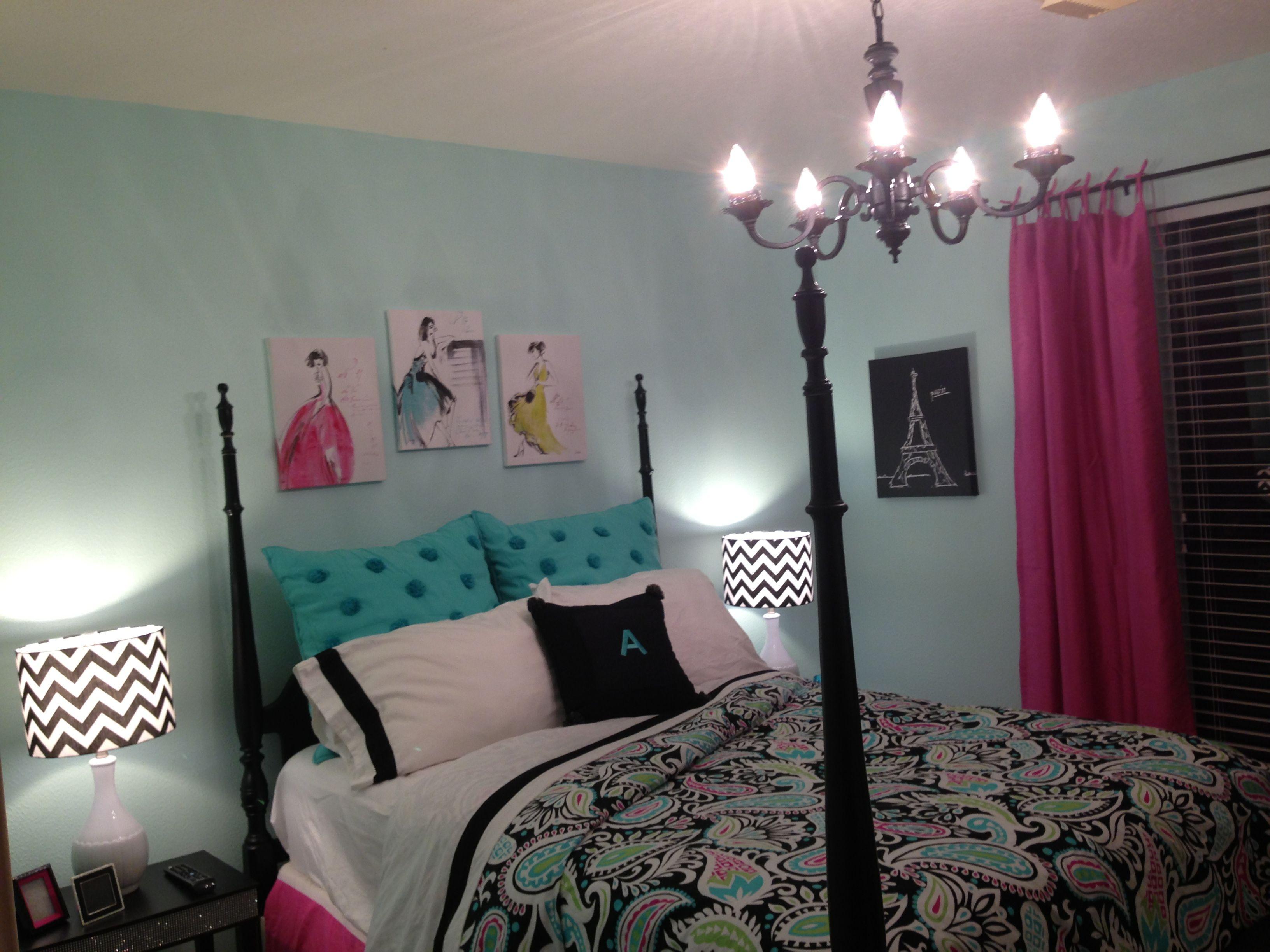 Paisley Bedroom Barely Teal Paint Lola Paisley Pb Teen Home Decor Pinterest